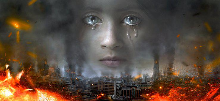 Child, Sad, Suffering, Destruction, War, Face, Girl