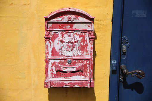 Mailbox, Color, Post, Retro, Flake, Shipping, Letters
