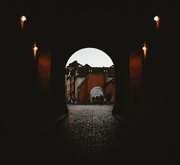 Archway, Goal, Cobblestones, Old, Historically, Portal