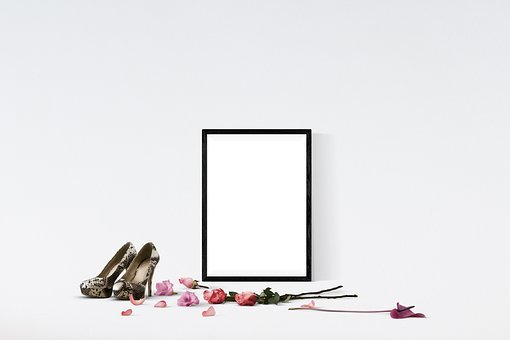 Poster, Wall, Mockup, Interior, Frame, Template
