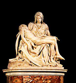 Godliness, Sculpture, Stone, Miguel Angel, Mercy