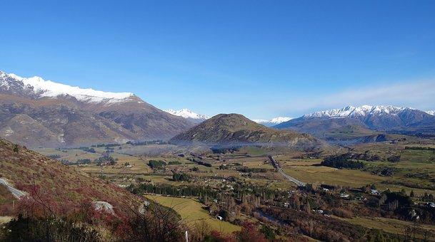 Mountains, Scenery, New Zealand, Landscape, Scenic