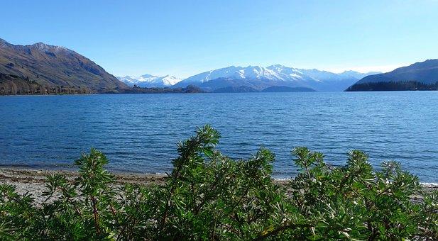 Lake, New Zealand, Landscape, Nature, Mountains
