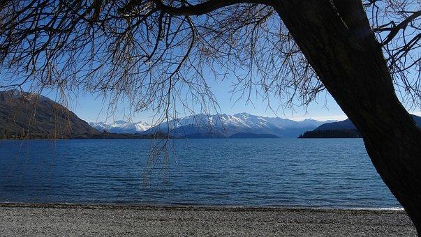 Lake, New Zealand, Nature, Landscape, Mountains