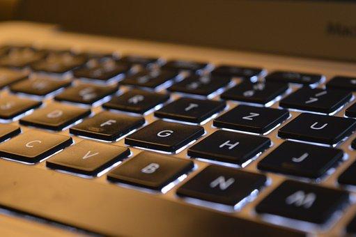 Keyboard, Macbook Air, Laptop, Computer, Work, Notebook