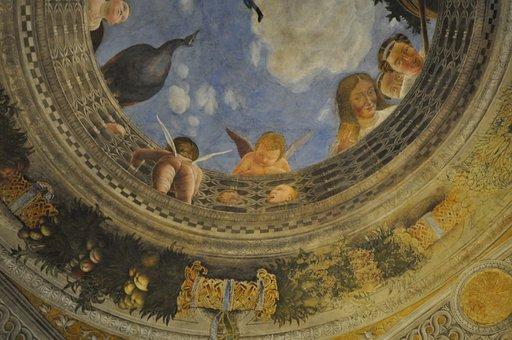 Mantova, Oculus, Palazzo Ducale, Child, Putto
