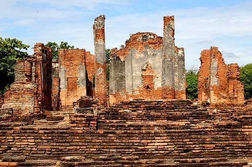 Thailand, Ruins, Temple, Ayutthaya, Old, Culture