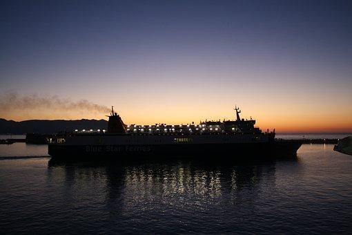 Crete, Heraklion Port, Sunset, Heraklion, Mediterranean