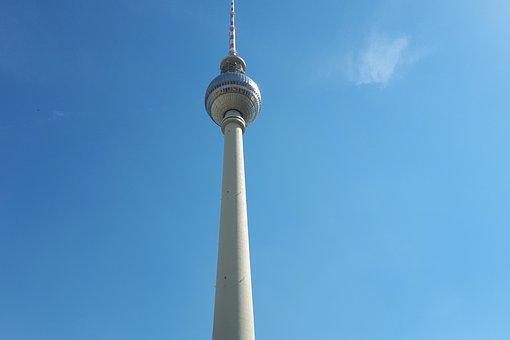 Berlin, Tv Tower, Alexanderplatz, Architecture, Capital