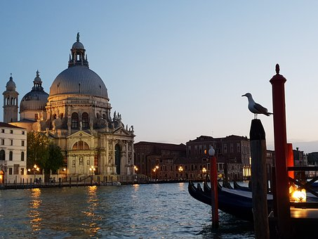 Venice, Europe, Twilight, Romantic, Basilica