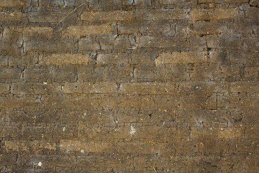 Wall, Brick, Mud, Texture, Architecture, Pattern