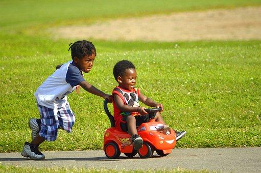 African American Kids, Athletic, Brown, Brown-skinned