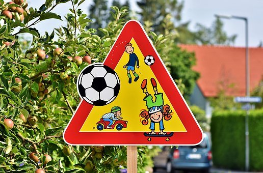 Play Street, Children, Note, Traffic, Attention