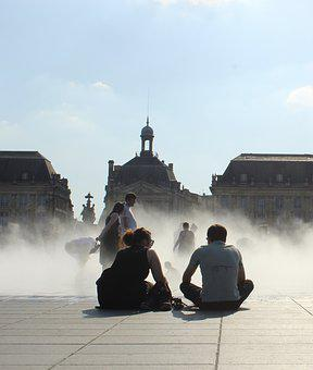 Bordeaux, City, Couple, France, Architecture, Street
