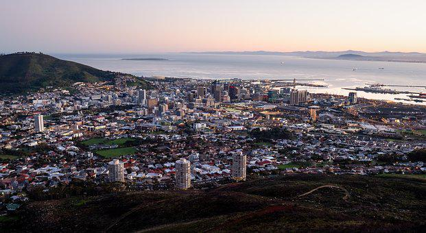 Cape Town City Bowl, City, Panorama, View, Cityscape