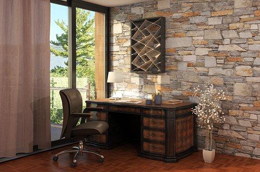 Interior, Room, Apartment, Luxury, Desk, Chair, Window