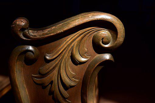 Pew, Wood, Old, Carving, Art, Church Art, Religion