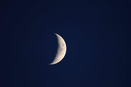 Moon, Crescent Moon, Sky, Night, Night Sky, Space
