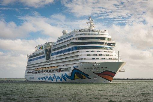 Cruise Ship, Aidamar, Ship, Cruises, Warnemünde