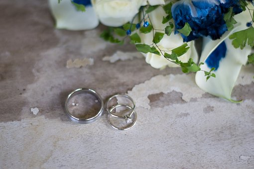 Rings, Wedding, Flowers, Ring, Marriage, Engagement