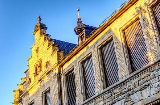Facade, Hauswand, Wall, Evening Sun, Sun, Light, Seem