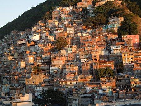 Brazil, Favela, Slum, Rio De Janeiro, Sunrise