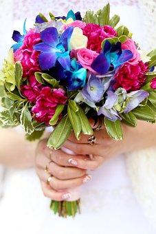Bouquet, Wedding, Flower, Romantic, Love, Bride