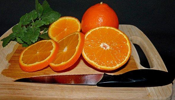 Fruit, Sliced, Healthy, Orange, Tangerine, Citrus