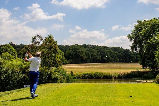 Golf, Tee, Golfers, Golf Course
