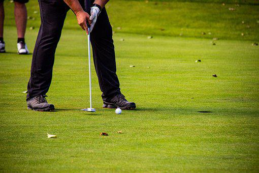 Golf, Tee, Golfers, Golf Course, Putting