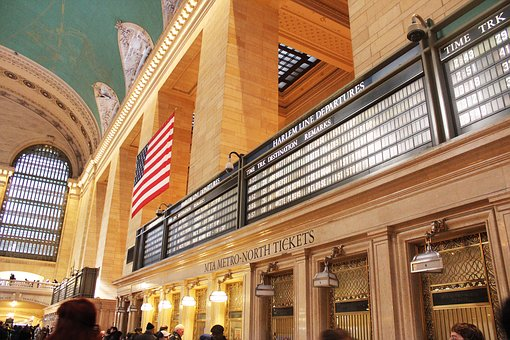 Grand Central Station, New York, Nyc, Railway Station
