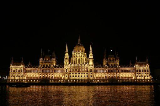 Budapest, Hungary, Parliament, A Council, Architecture