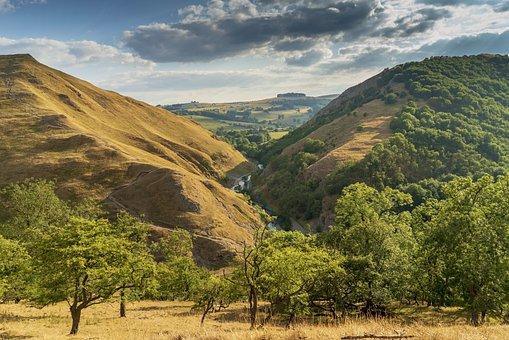 Dovedale, United Kingdom, Valley, Ilam, England, Scenic