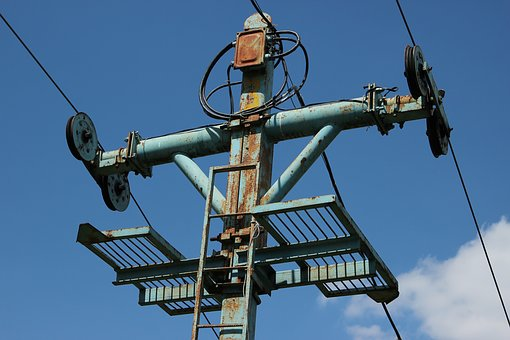 Lift, Support, Wire, Summer, Sky, Kant, Moscow, Russia