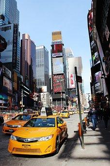 New York City, Taxi, Road, Manhattan, Architecture, Usa