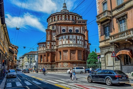 Italy, Milan, Milano, Street, Architecture, Lombardy