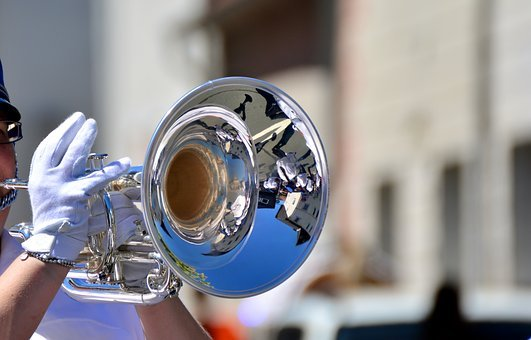 Trumpet, Trumpeter, Marching, Music, Musician
