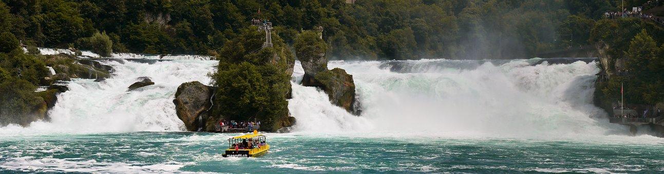 Nature, Landscape, River, Waterfall, Rhine Falls