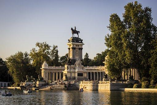 Parque Del Retiro, Madrid, Spain, Lake, Pond