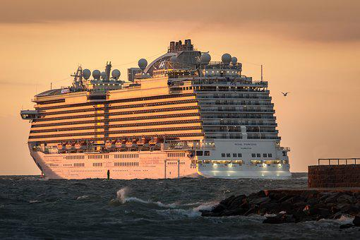 Cruise Ship, Shelf-princess, Sunset, Evening, Farewell