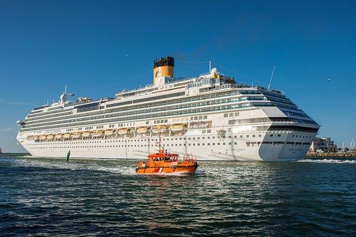 Cruise Ship, Costa Favolosa, Ship, Cruises, Warnemünde
