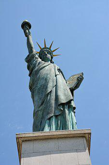 Paris, Eiffel Tower, Its, France, Statue Of Liberty