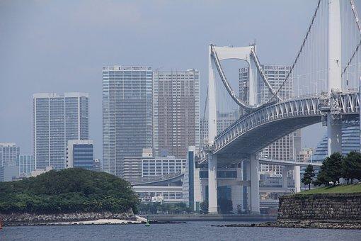 Japan, Tokyo, Rainbow Bridge, Architecture, Building