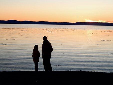 Sun, Twilight, Landscape, Sky, Nature, Water, Evening