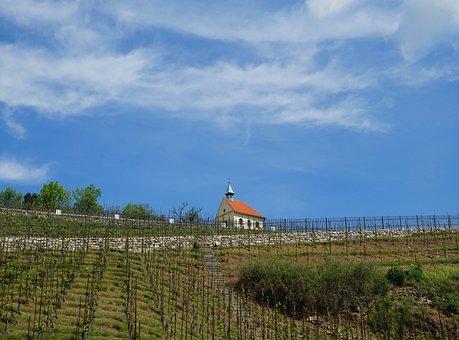 Chapel, Vineyard, Prague, Czechia, Sky, Field, Church
