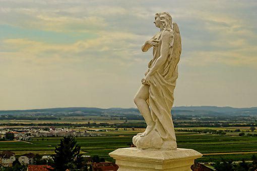 Angel, Sculpture, Statue, Figure, Art, Stone, Wing