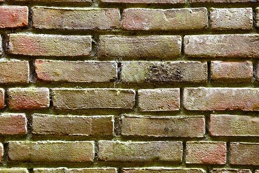 Brick Wall, Yellow Brick, Seam, Masonry, Cement