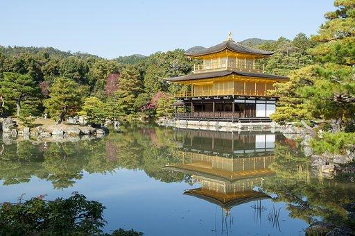 Japan, Kyoto, Golden Pavilion, Ancient, Temple