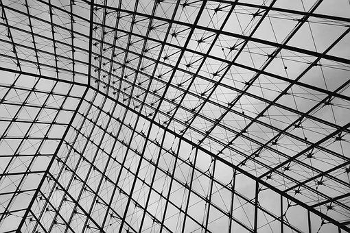 Paris, France, The Louvre, Pyramid, Architecture