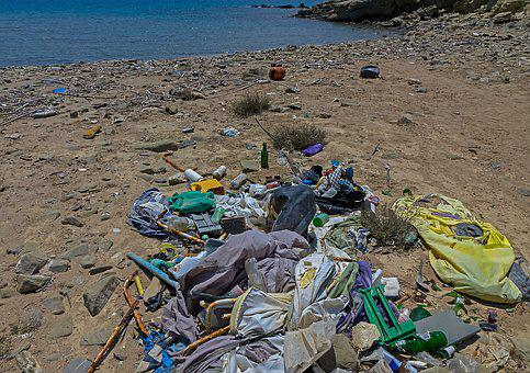 Garbage, Plastic Waste, Beach, Environmental Sin